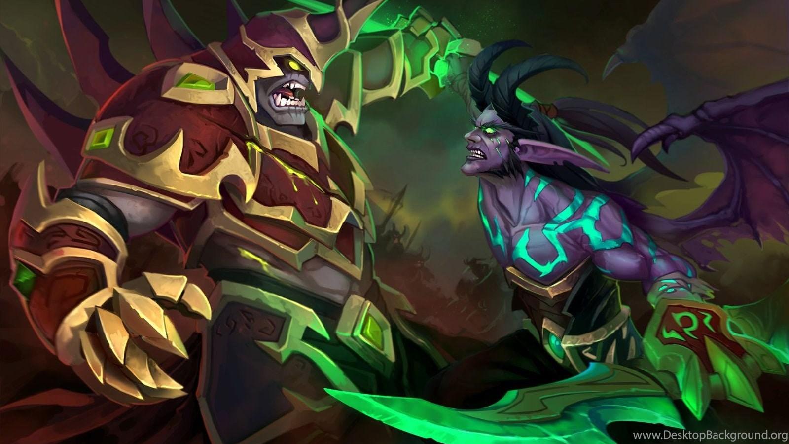 Wallpapers Demon Hunter World Of Warcraft Legion Hd Desktop Background