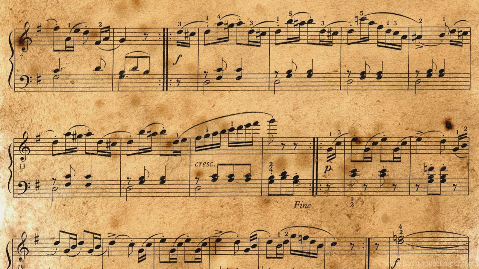 Vintage Music Note Wallpapers For Android Harmony: High Res Music Sheet Wallpapers Desktop Background