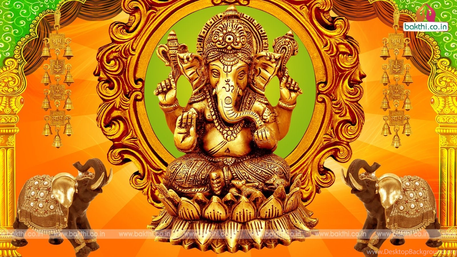 Lord Ganesha Hd Wallpapers With Creative Design Desktop Background