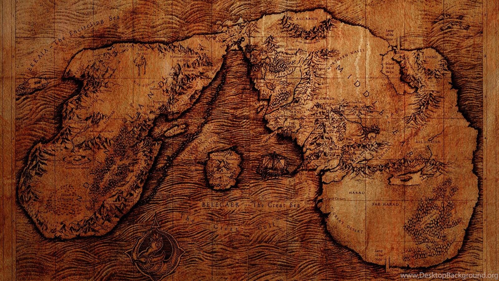Middle Earth Map Wallpapers By Pastorgavin On Deviantart Desktop