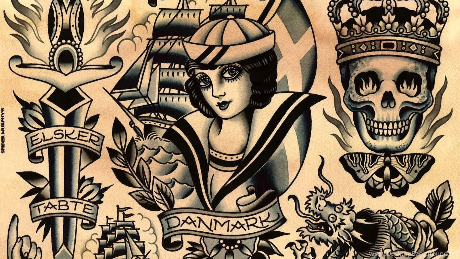 Other Wallpaper: Traditional Tattoo Flash Images ...