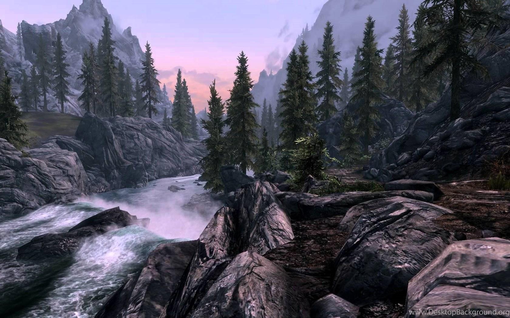 Skyrim Dreamscene Live Wallpaper River Scene 2 1080p Youtube