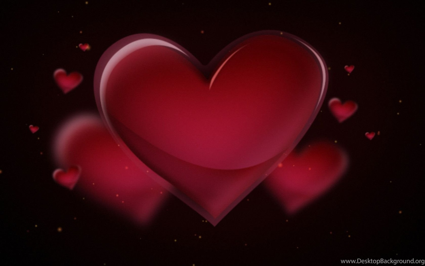 3d Red Love Heart Wallpapers Hd Desktop Background