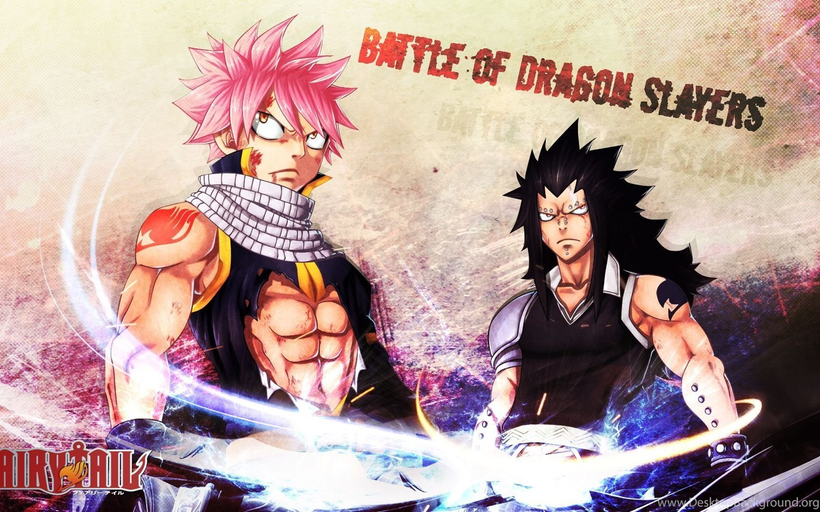Natsu Gajeel Fairy Tail Dragon Slayer Inxstrife Hd 1920 Desktop
