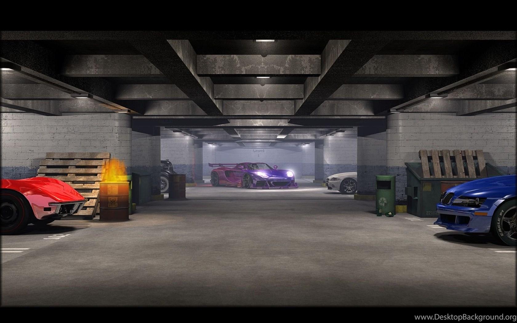 Gallery For Car Garage Wallpapers Desktop Background
