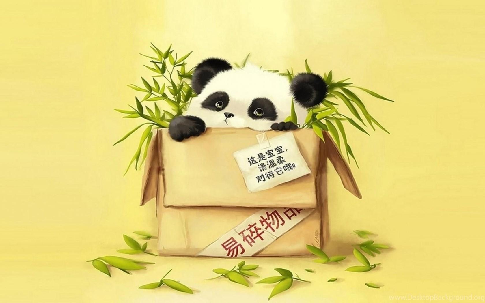 Panda Abstract Cartoon Free Desktop ...