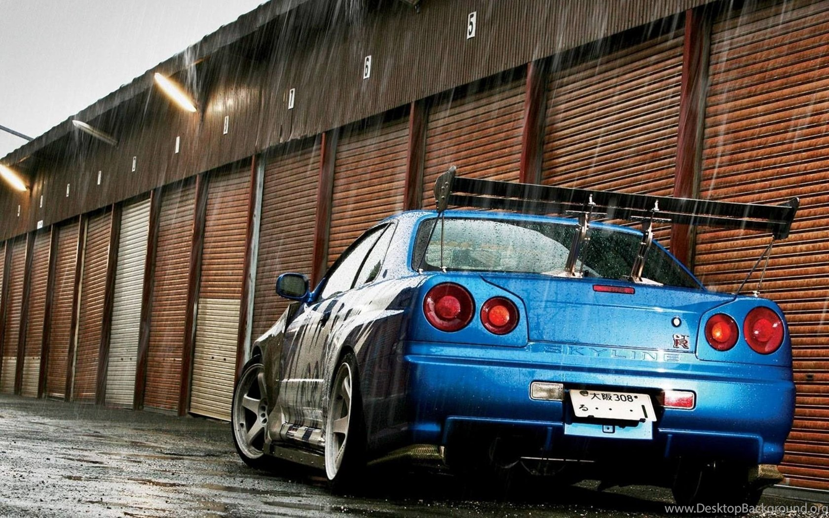 Nissan Skyline Gt R R34 Nissan Skyline Nissan Jdm Car Blue Desktop Background