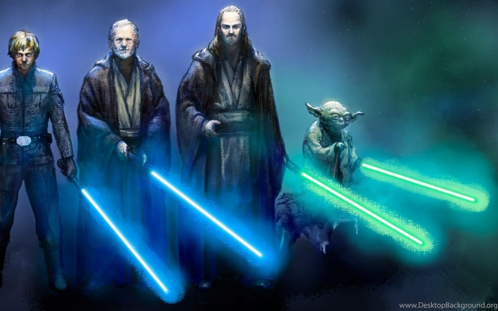 1920x1080 Jedi Star Wars Obi Wan Kenobi Luke Skywalker Qui Gon