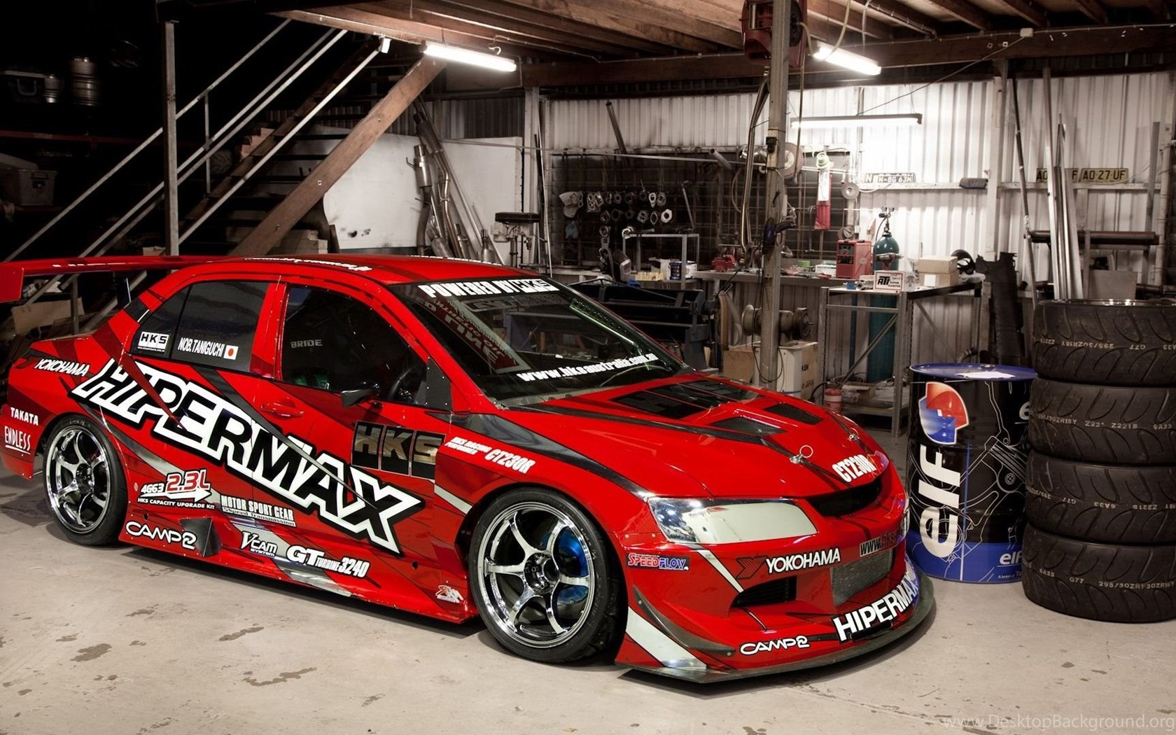 Mitsubishi Lancer Evolution In Garage Hd Wallpapers 1080p