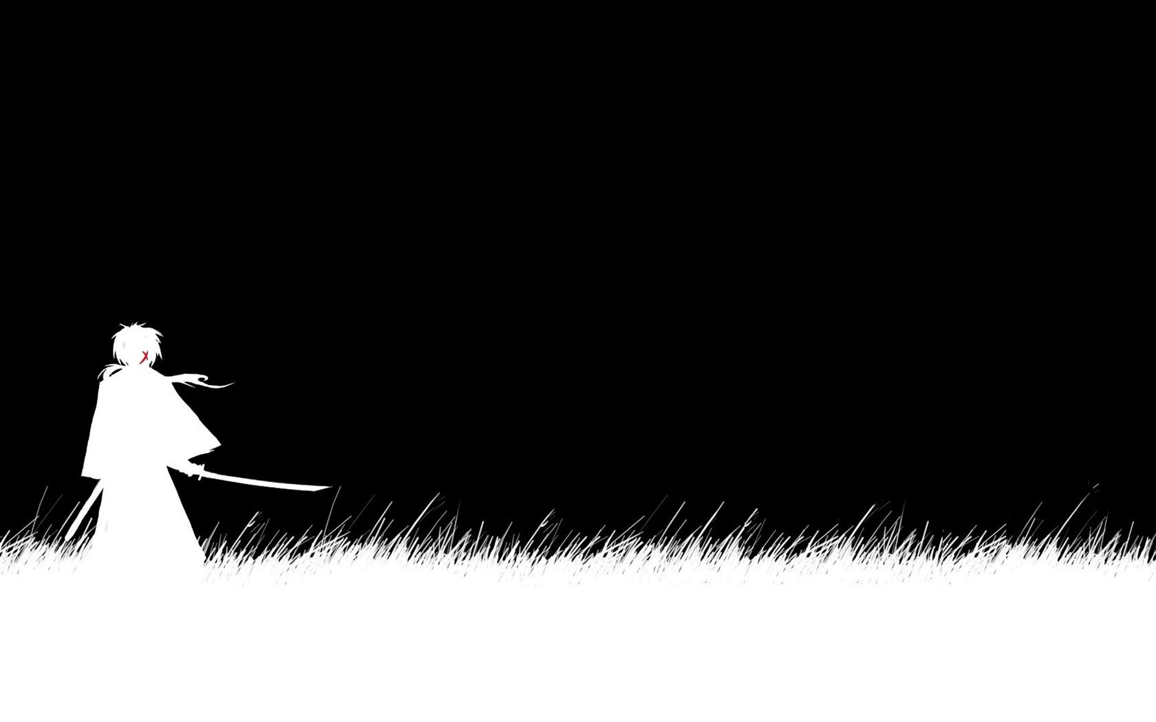 Black And White Samurai X Anime Wallpapers Pict Desktop Background