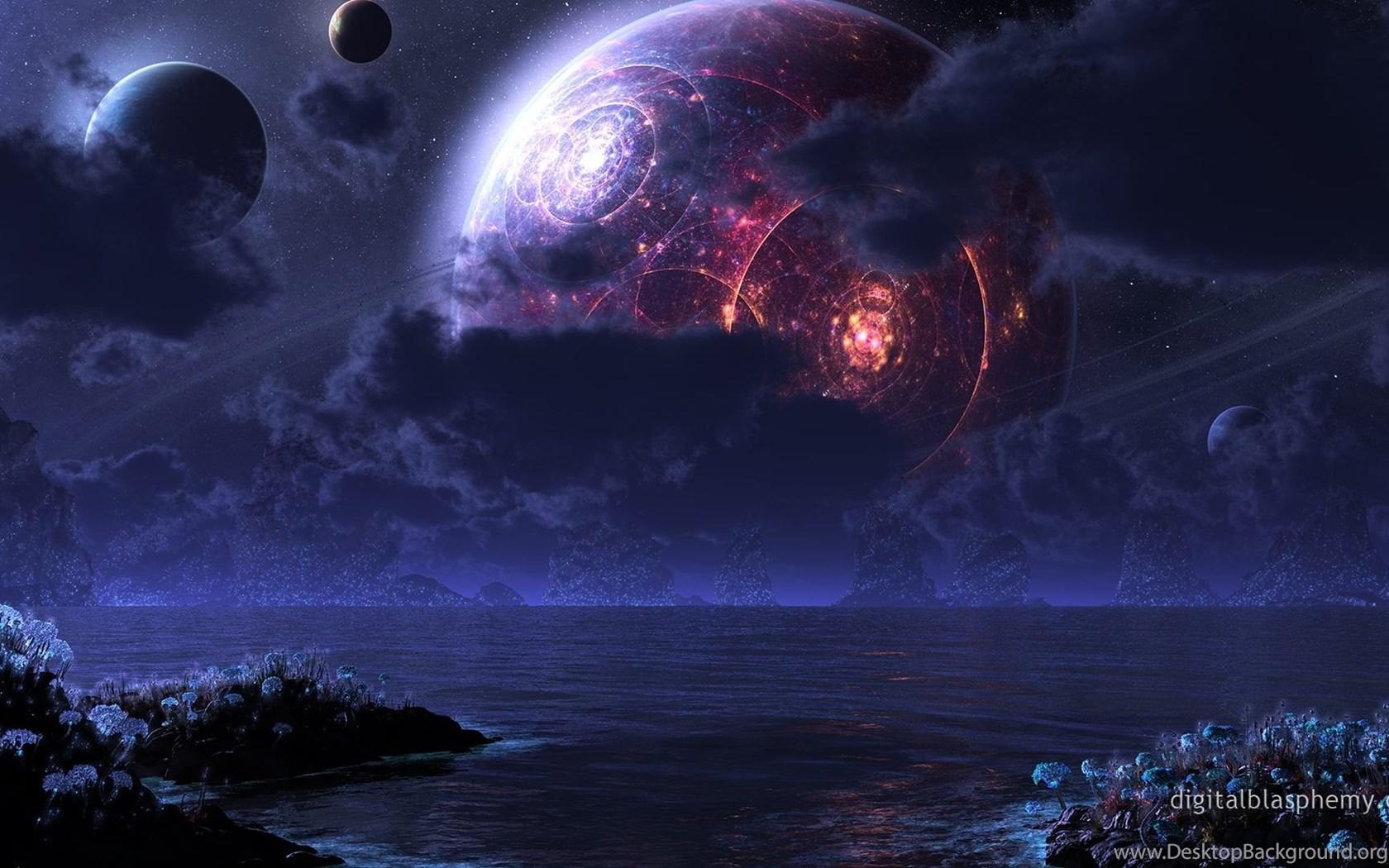Digital blasphemy 3d wallpaper phraxis moon by ryan bliss - Ryan name wallpaper ...
