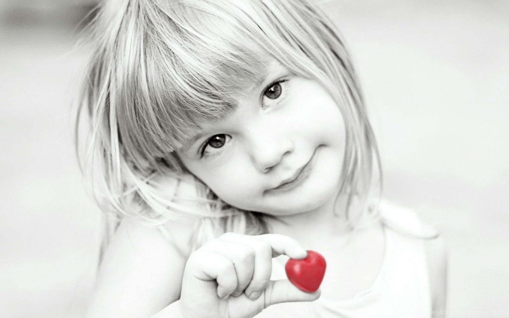 Cute Little Girl Black And White Wallpapers Dreamlovewallpapers