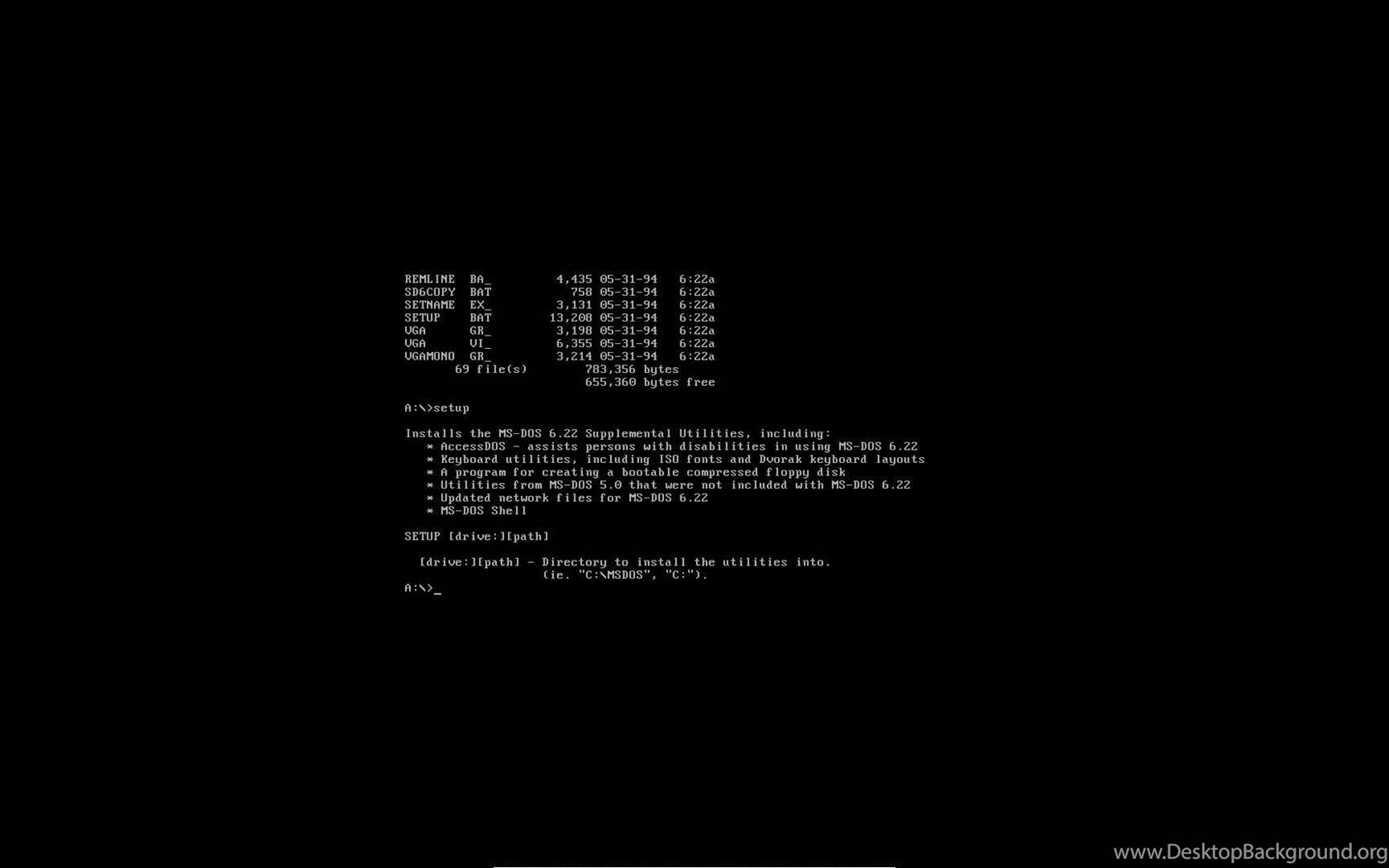 Installing MS DOS 6 22 YouTube Desktop Background