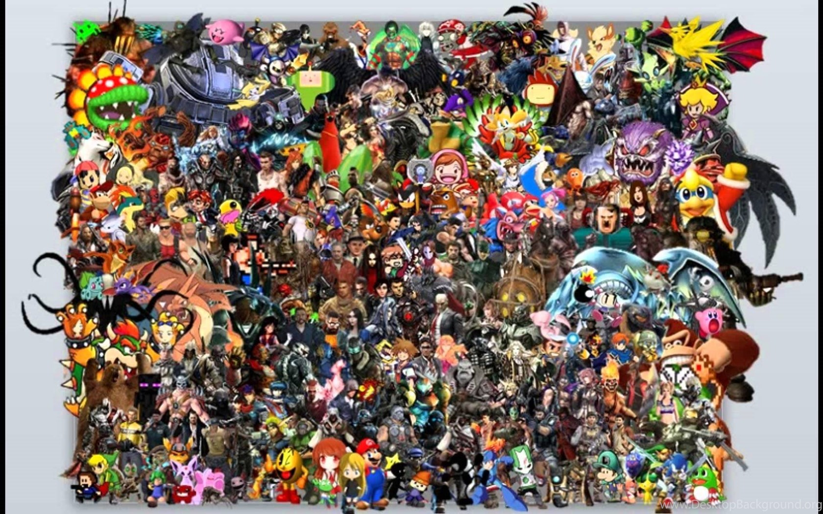 Amazing Video Game Character Collage Youtube Desktop Background