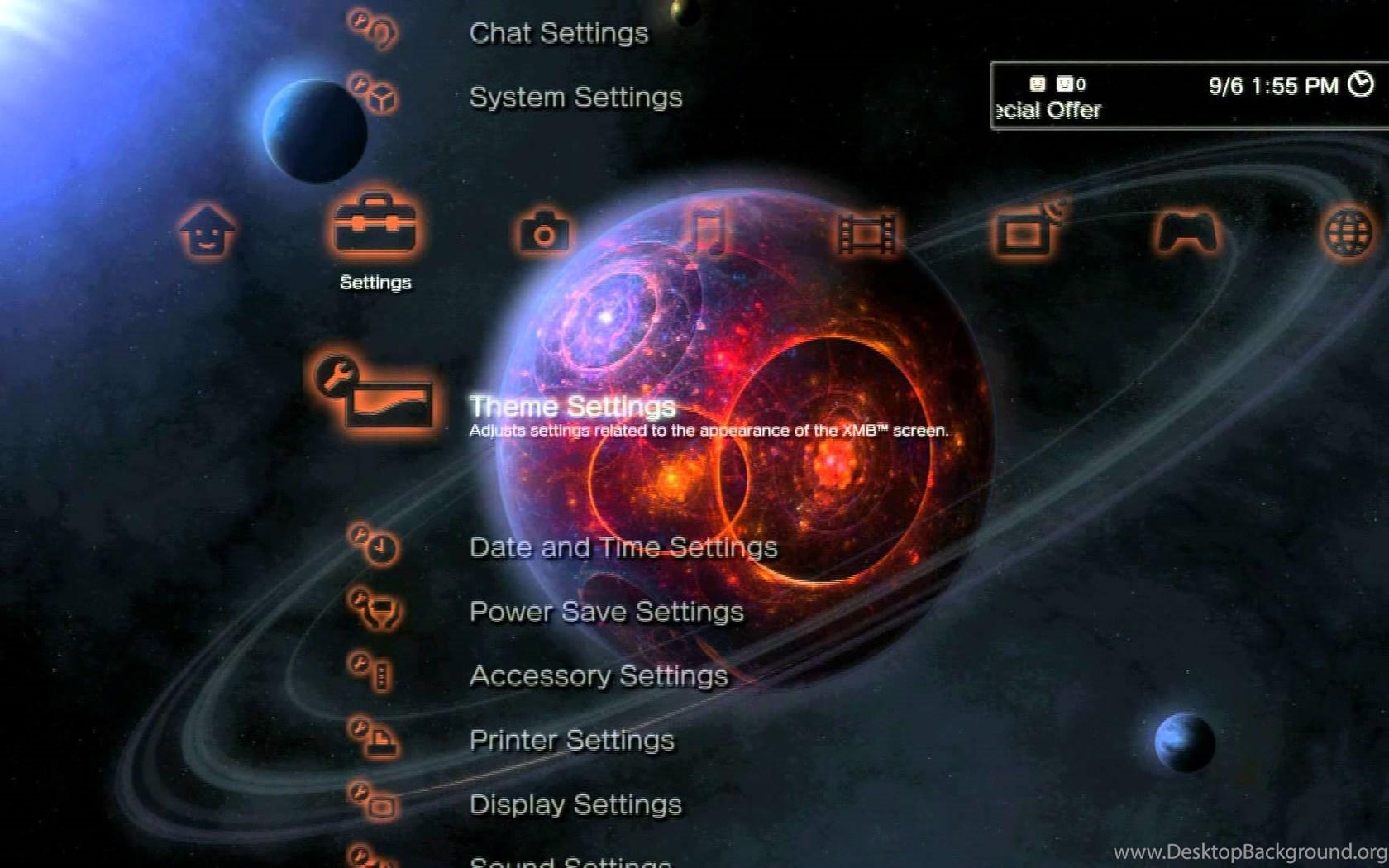 Digital Blasphemy: Dynamic Themes For The PS3 Desktop Background