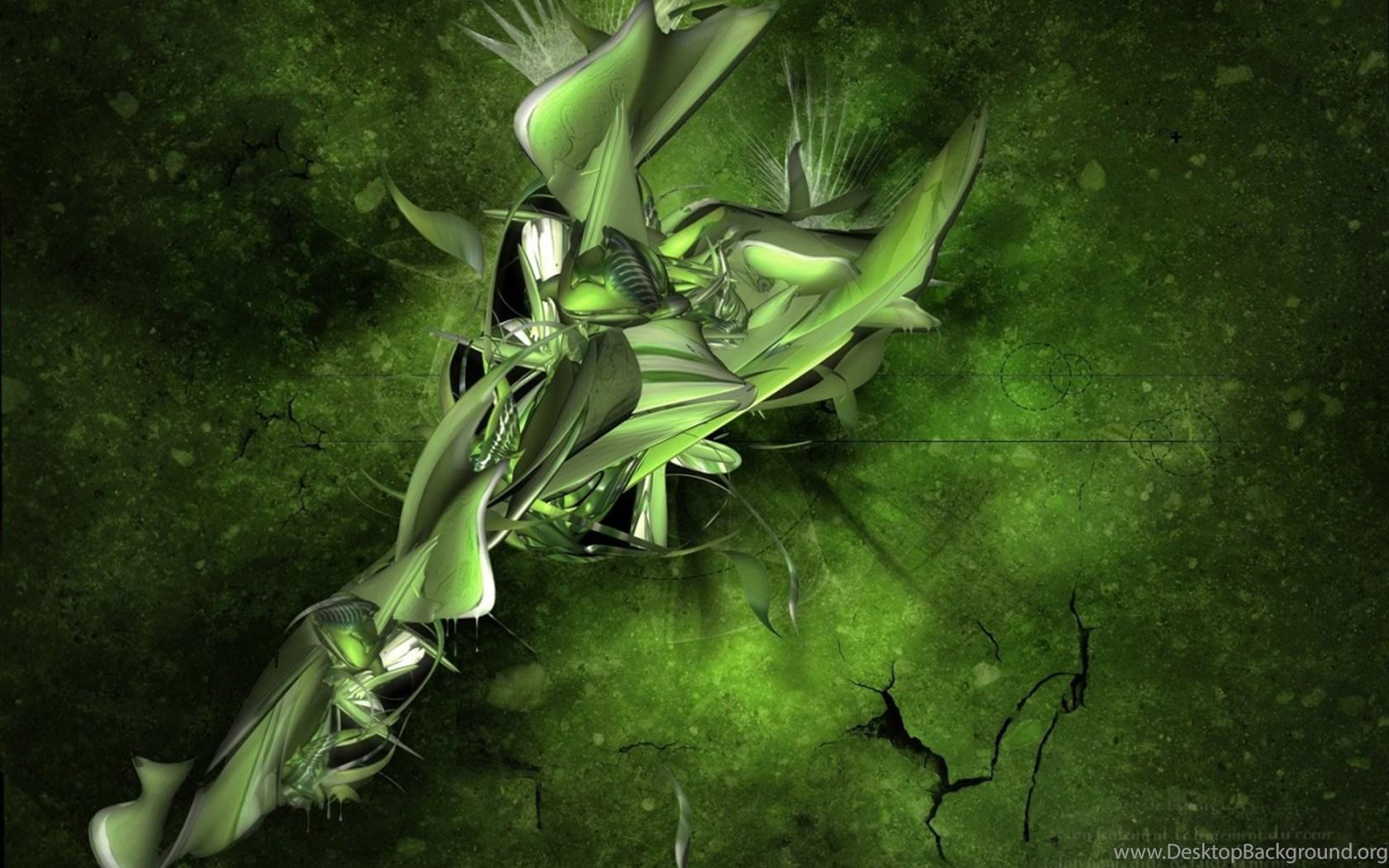 High Resolution 3d Green Abstract Wallpapers Desktop Background