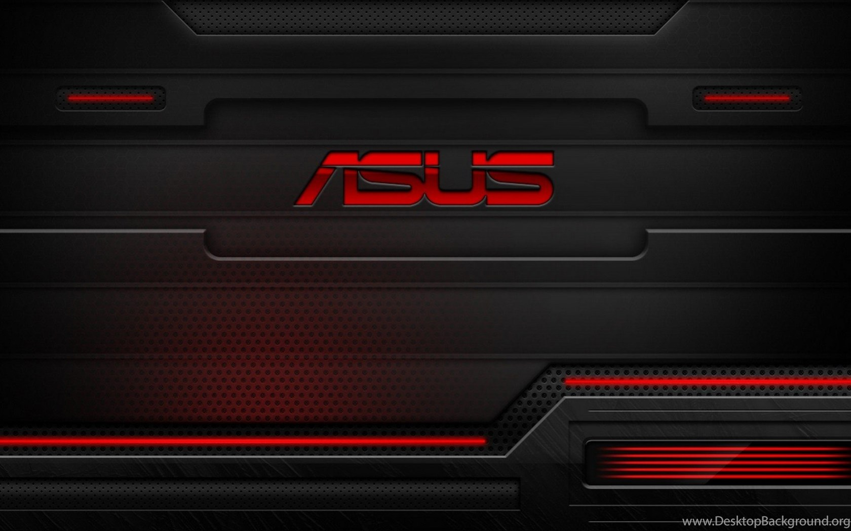 Asus Wallpapers Widescreen: HD Red And Black Asus Technology Wallpapers For Desktop