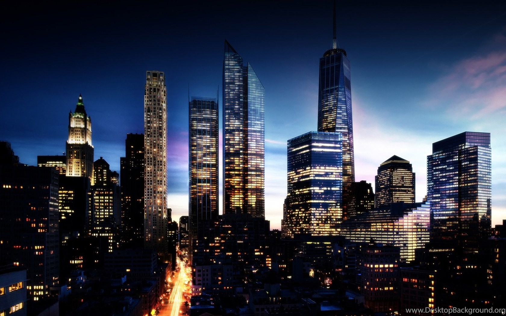 High Resolution New York Skyline At Night Wallpapers Hd 1 City
