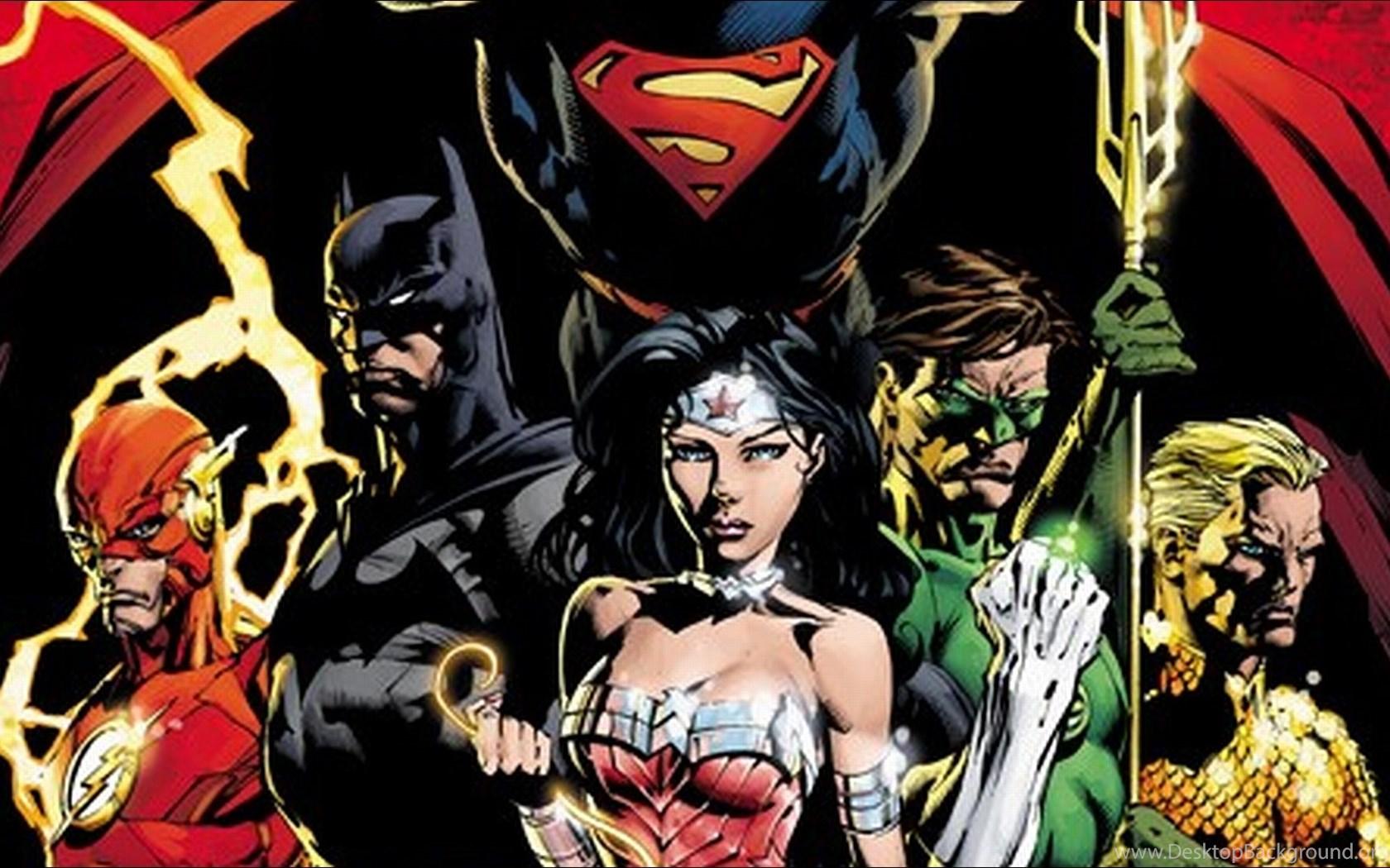 The Justice League Wallpaper Backgrounds Desktop Background
