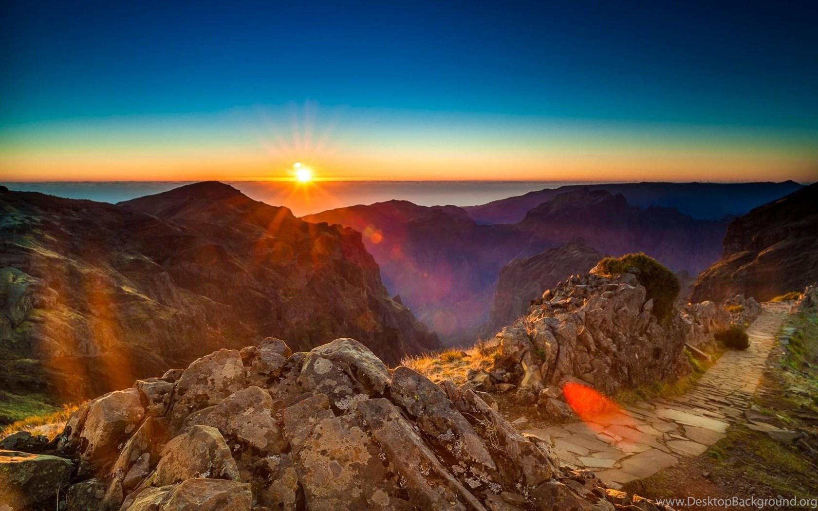 Download Beautiful Mountain Sunrise Wallpapers Wide Desktop Background