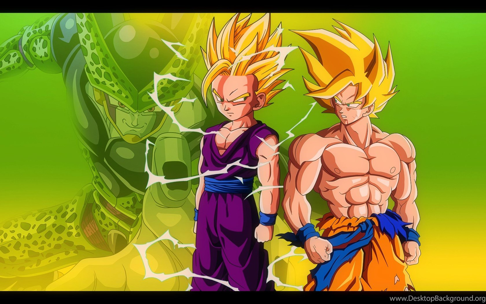 Dragon Ball Z Gohan Vs Cell Wallpapers 1388116 Desktop Background