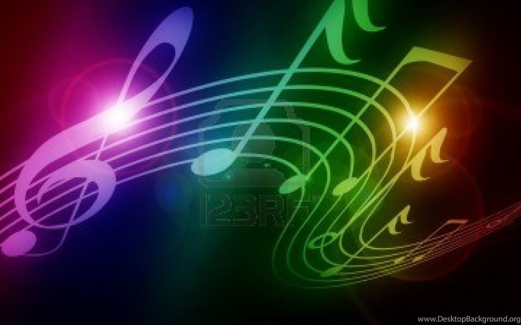 New Large Scale Fresco D Wallpaper Dynamic Colorful Music Symbol