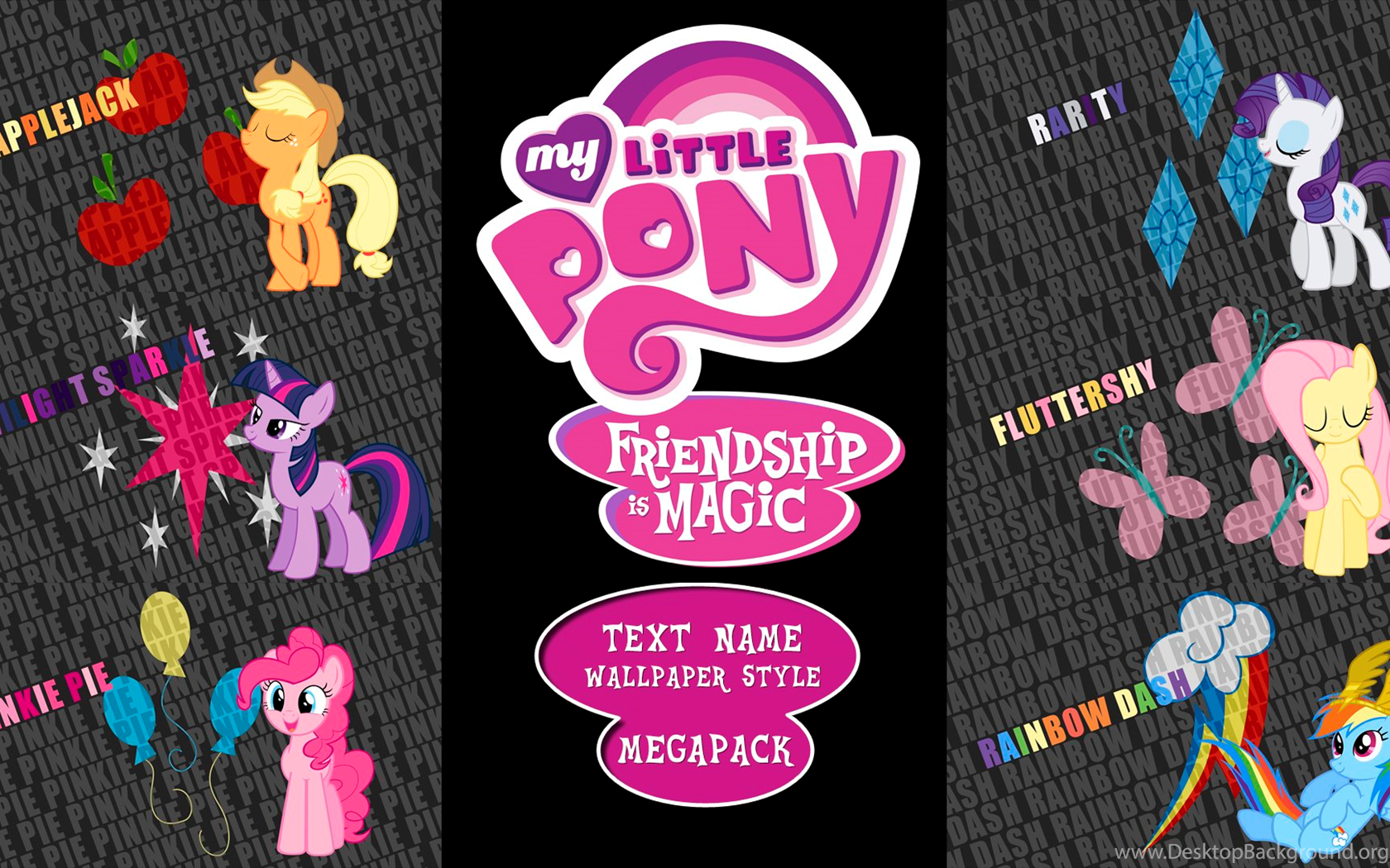 deviantart: more like my little pony: fim 'text name' wallpapers