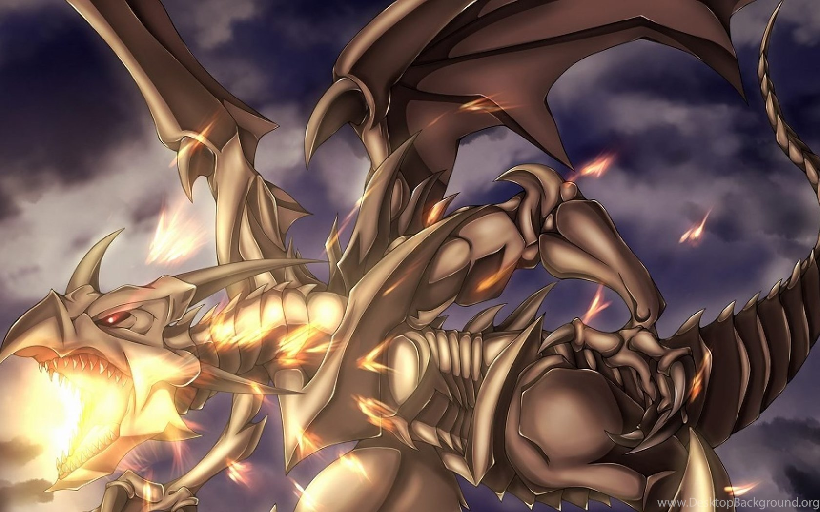 Blue Eyes White Dragon And Red Eyes Black Dragon Wallpapers