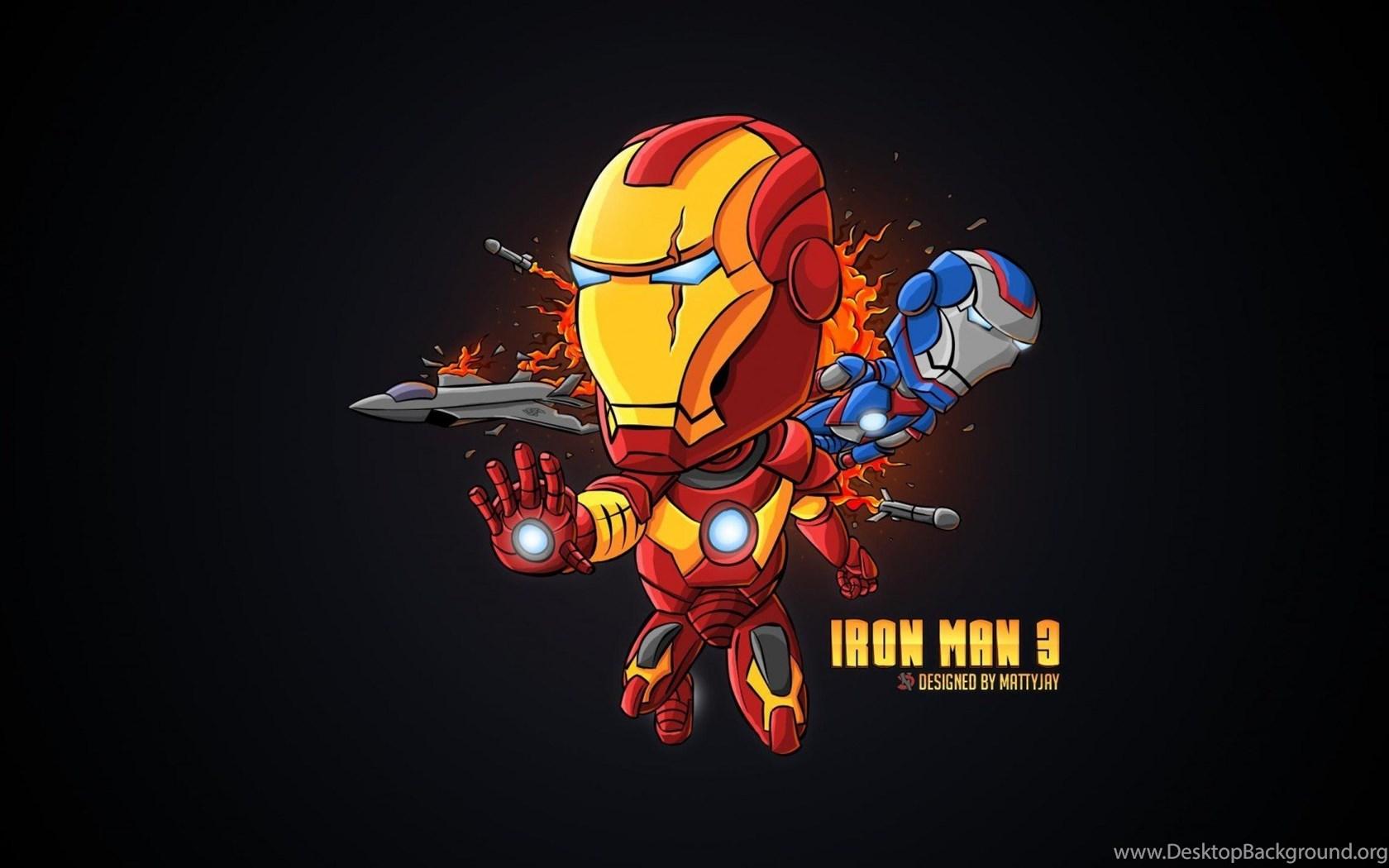 Iron Man Cartoon Wallpapers » WallDevil ...