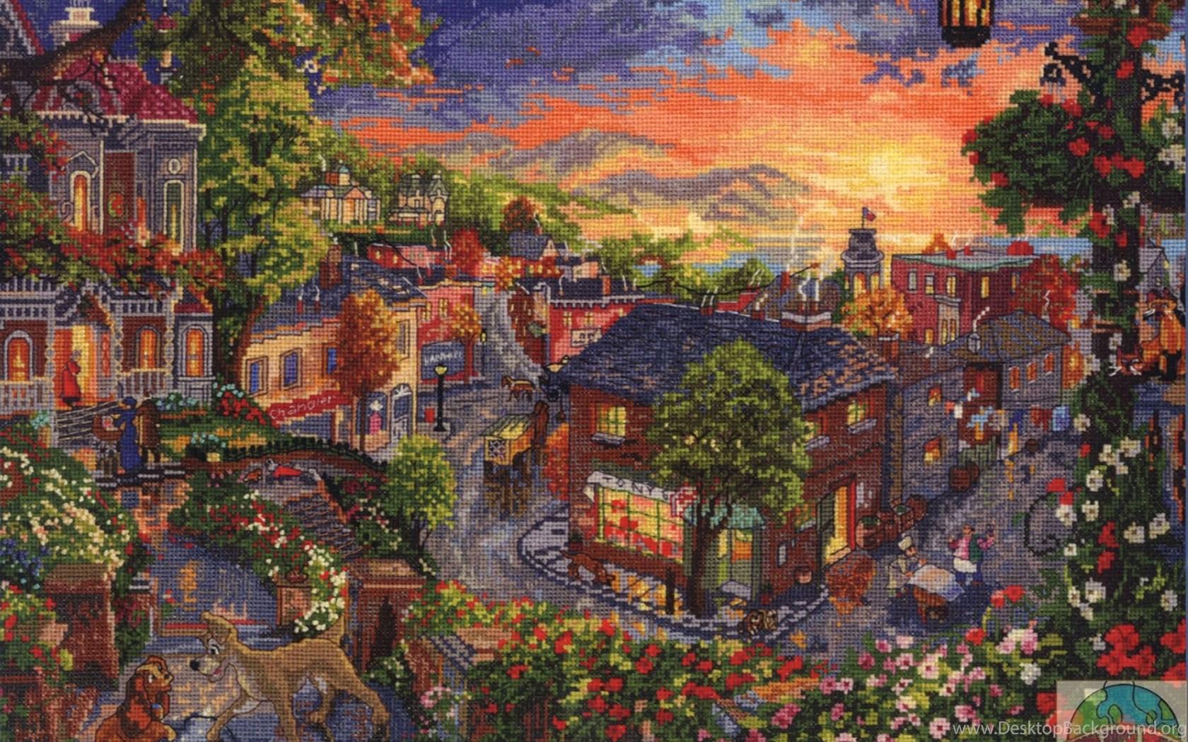 Thomas Kinkade Disney Wallpapers Wallpapers Cave Desktop Background