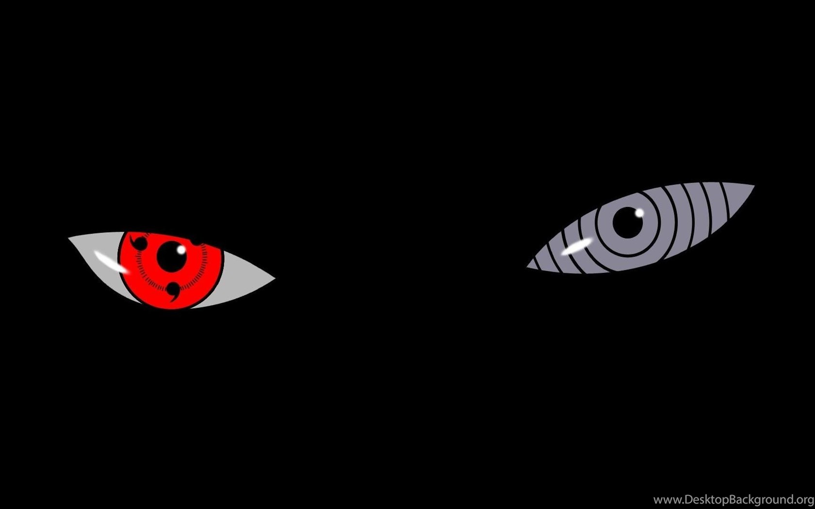 Eyes Naruto: Shippuden Sharingan Tobi Black Backgrounds