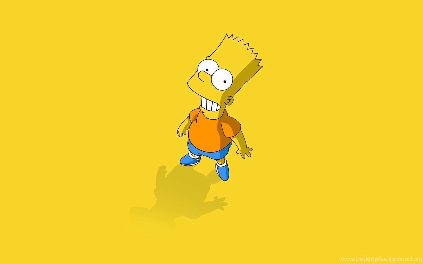 1005658 minimalistic the simpsons bart simpson yellow backgrounds