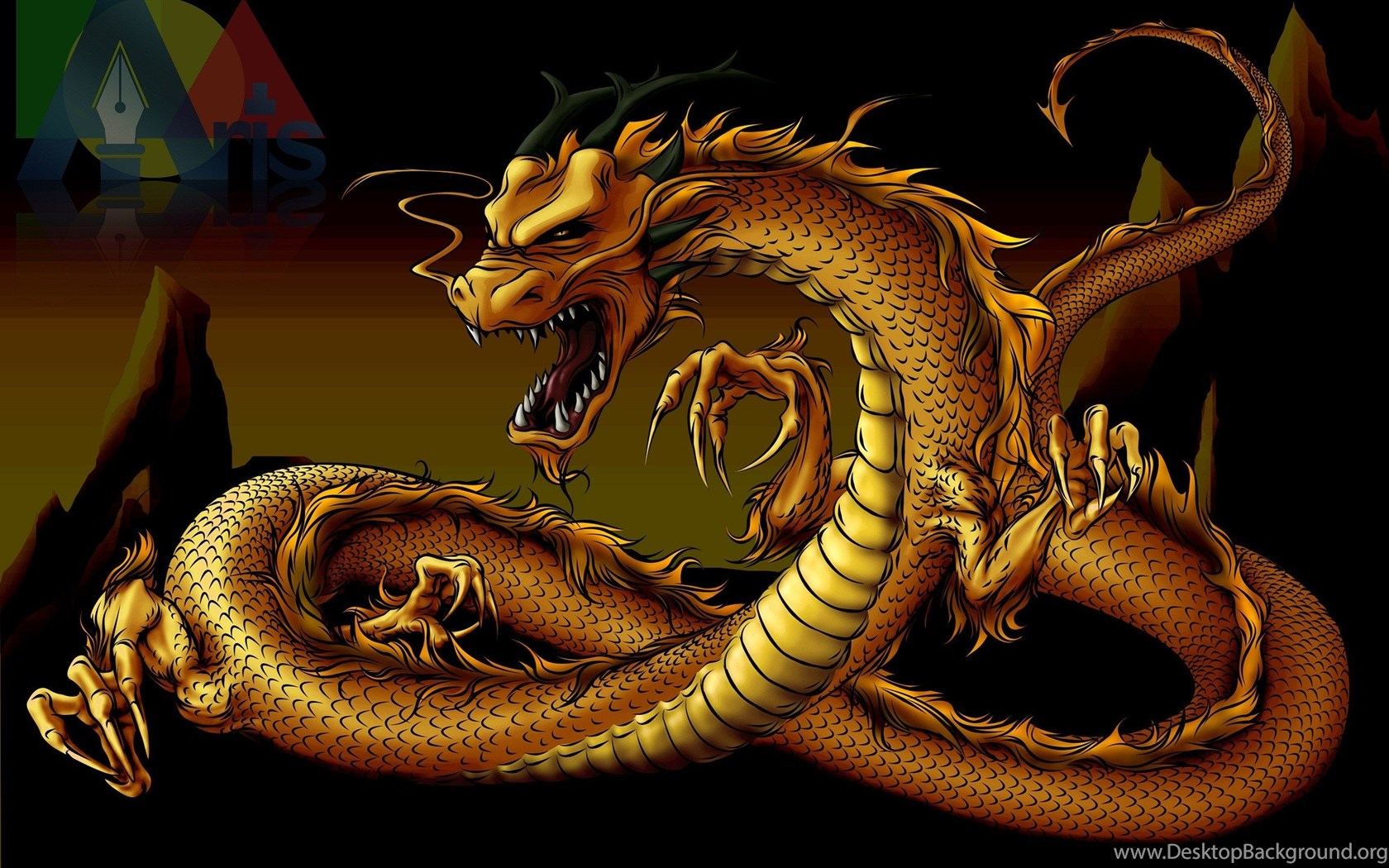 Gold Dragon 16 Wide Wallpapers Hivewallpaper Com Desktop