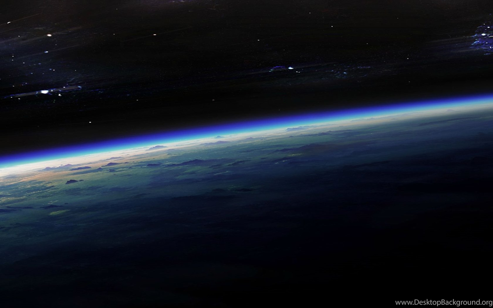 Curvature Of The Earth [5760x1080] : Threescreenwallpapers Desktop