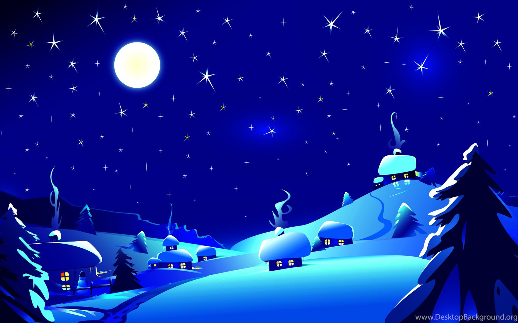 Christmas Magic Hd Wallpapers: The Magic Of The Christmas Night Wallpapers Desktop Background