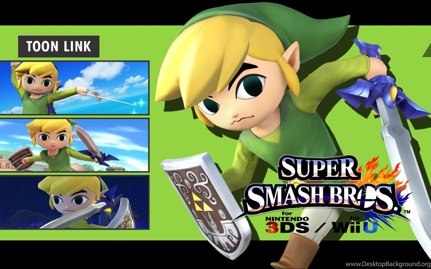 Super Smash Bros 3DS Wii U Toon Link Wallpapers By DaKidGaming