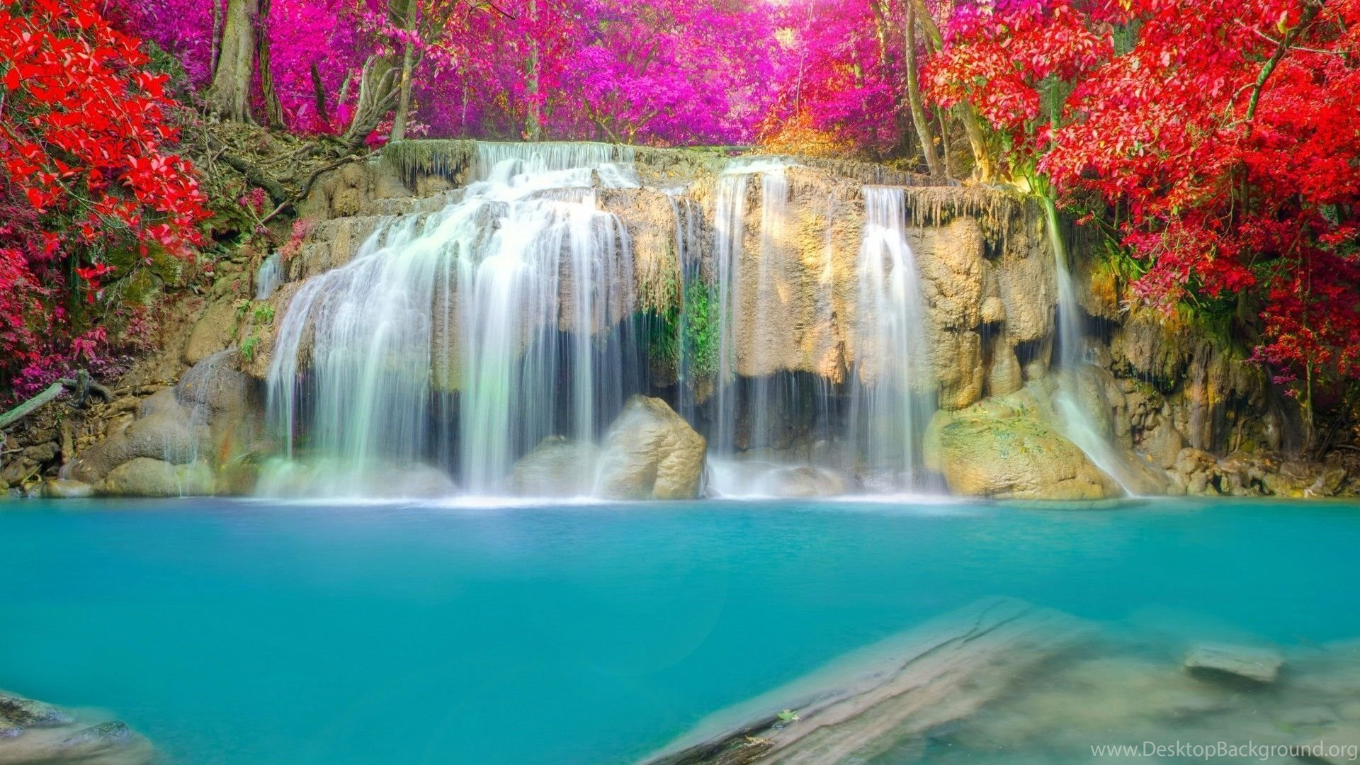 waterfall wallpapers hd high resolution free download desktop background
