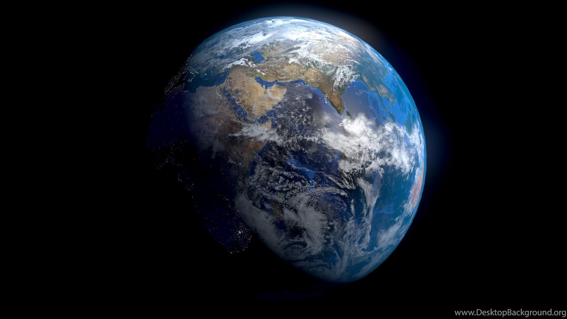 planets surrounding earth - HD1280×1024