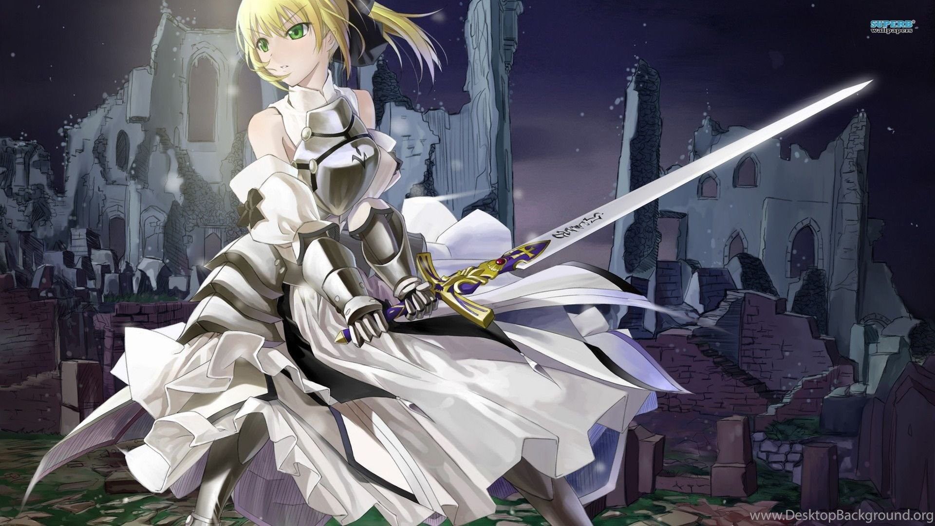 Saber Fate Stay Night Wallpapers Anime Wallpapers Desktop Background