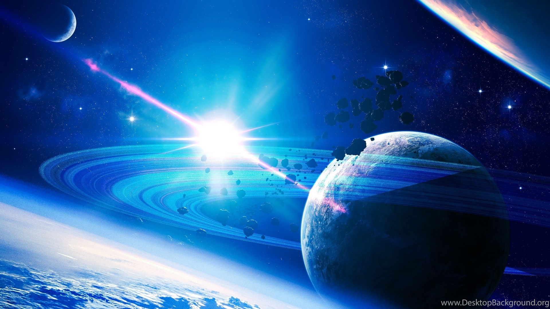 Cool hd pictures of planets and stars pics about space - Deep blue space wallpaper ...