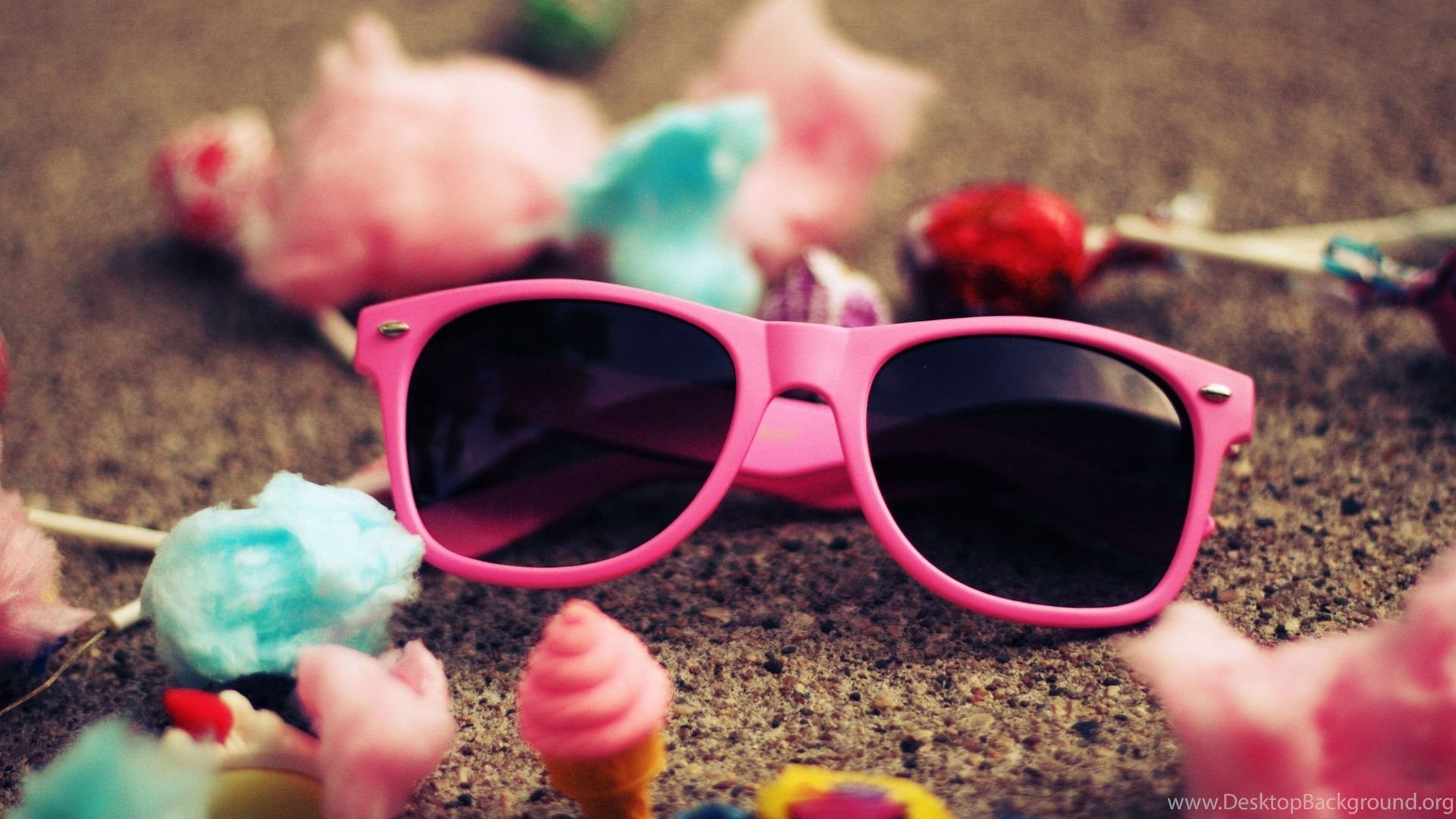 Cute Pink Sunglass For Girls Hd Wallpapers Desktop Background