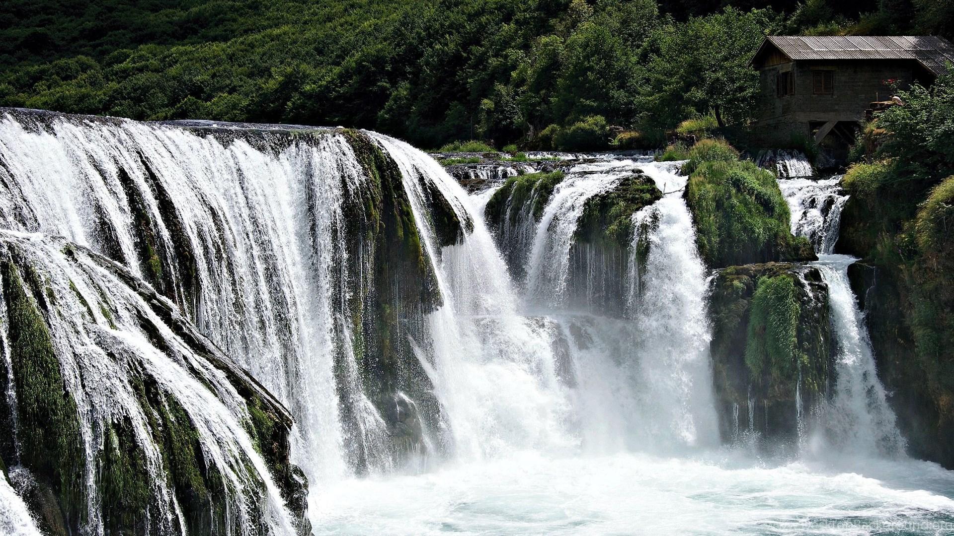 Waterfalls Wallpapers Free The Green Waterfall HD