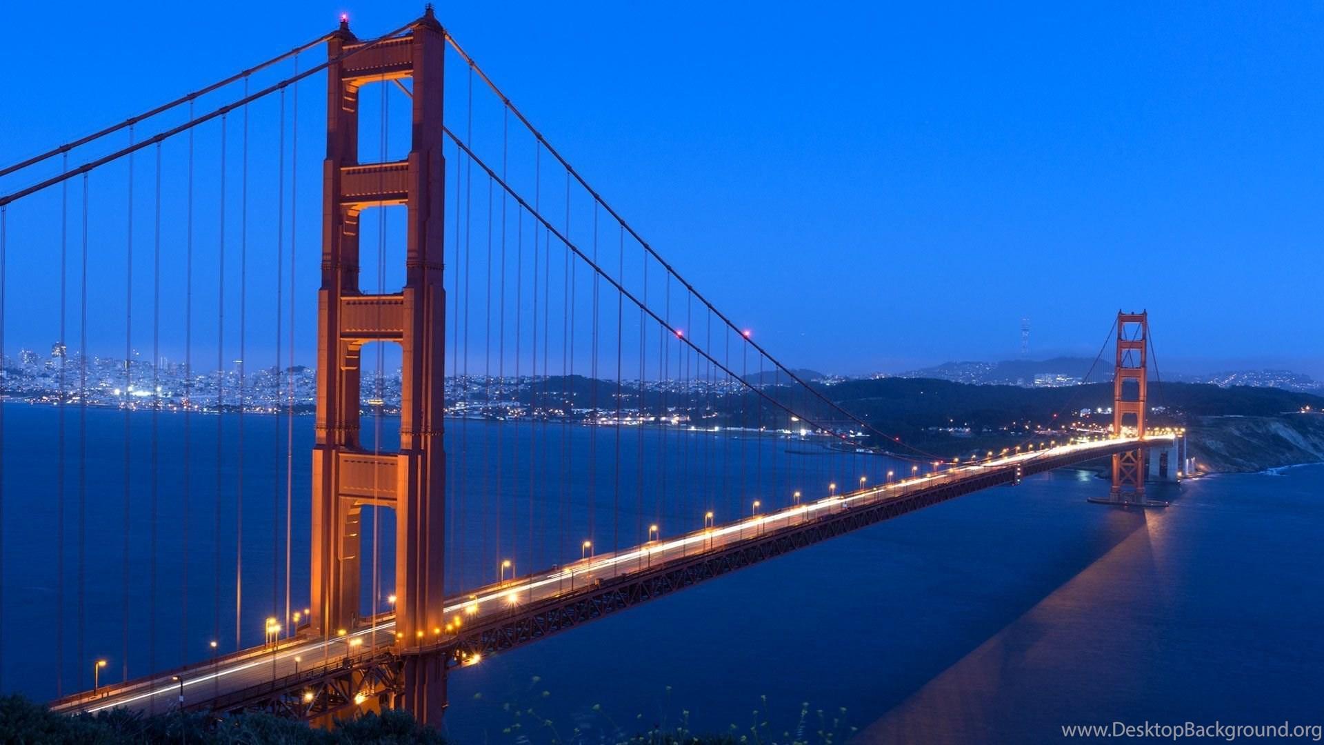 Golden Gate Bridge Night Wallpapers Hd 1080p For Desktop Desktop
