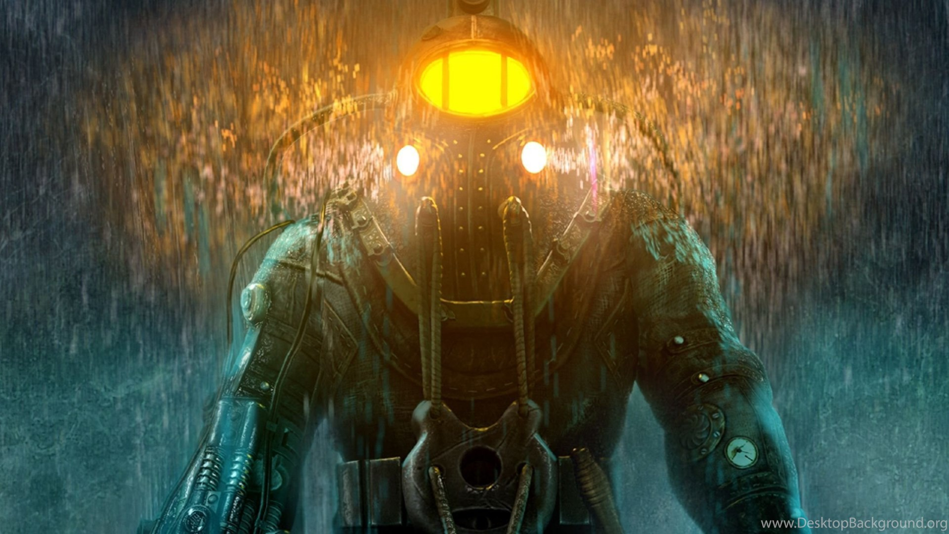 Download Wallpapers 3840x1200 Bioshock Big Daddy Little Sister