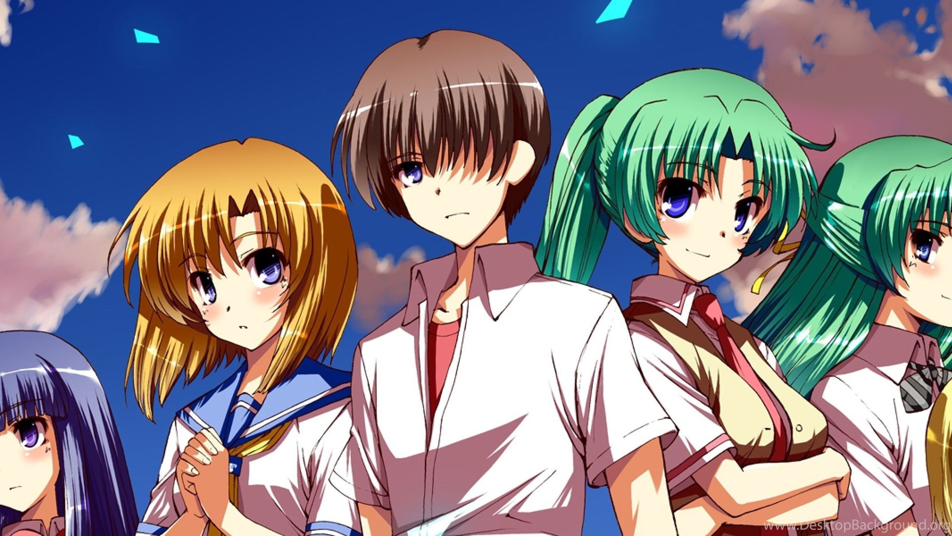 Download Wallpapers 3840x1200 Higurashi No Naku Koro Ni Crowd