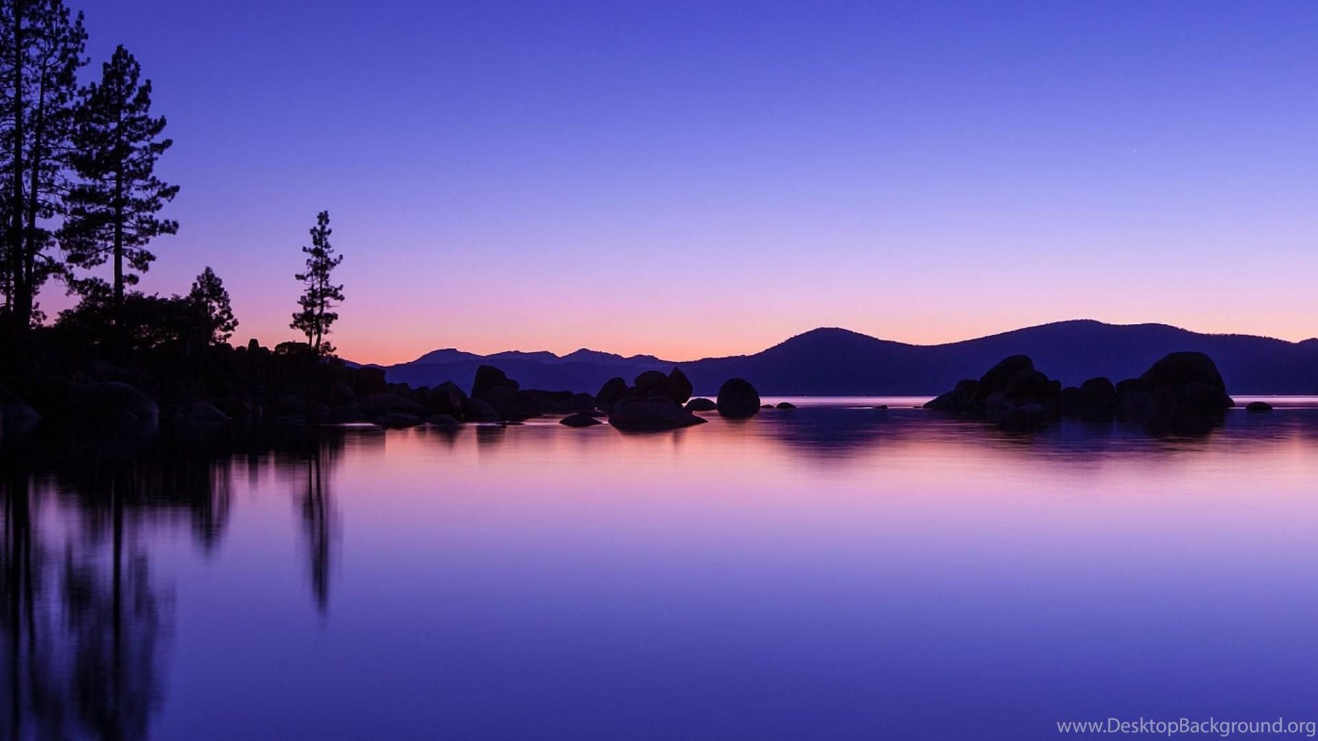 Download Wallpapers Romantic Evening, Lake Tahoe