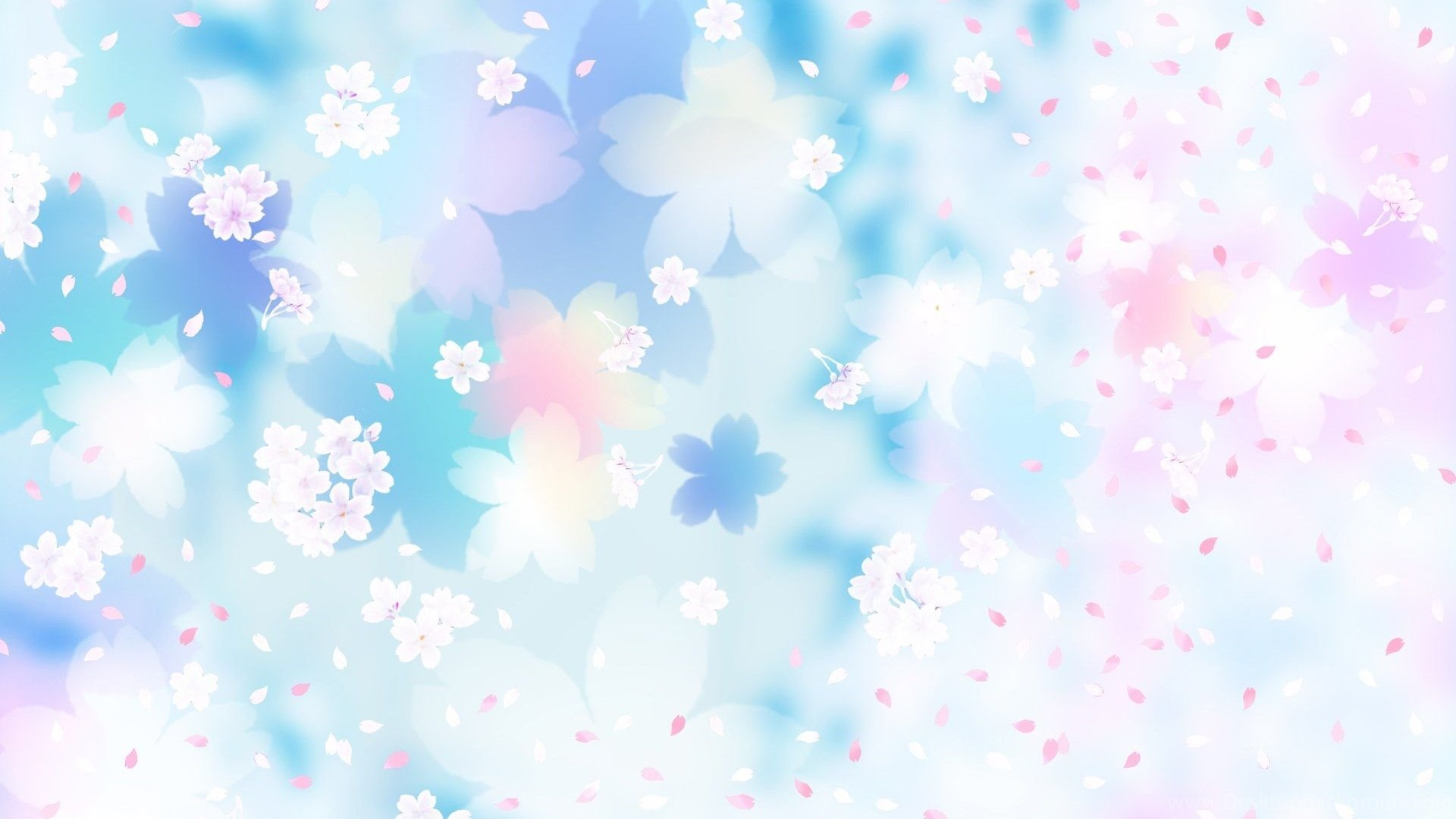 Gallery For Blue And Pink Flowers Backgrounds Desktop Background