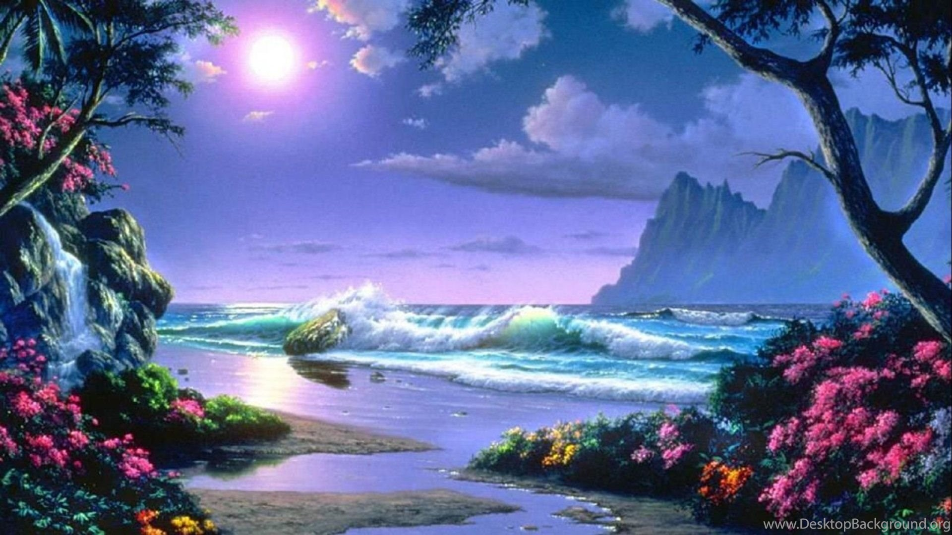 Fantasy Landscape Art Artwork Nature Scenery Wallpapers Desktop Background