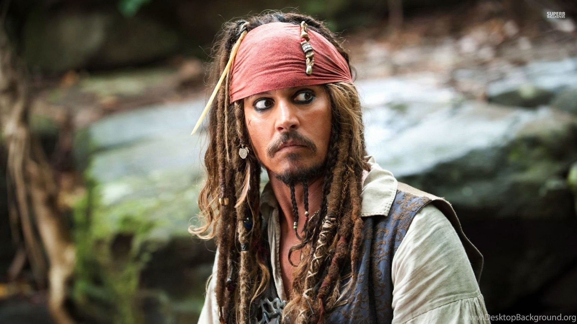 captain jack sparrow the pirates of the caribbean wallpapers
