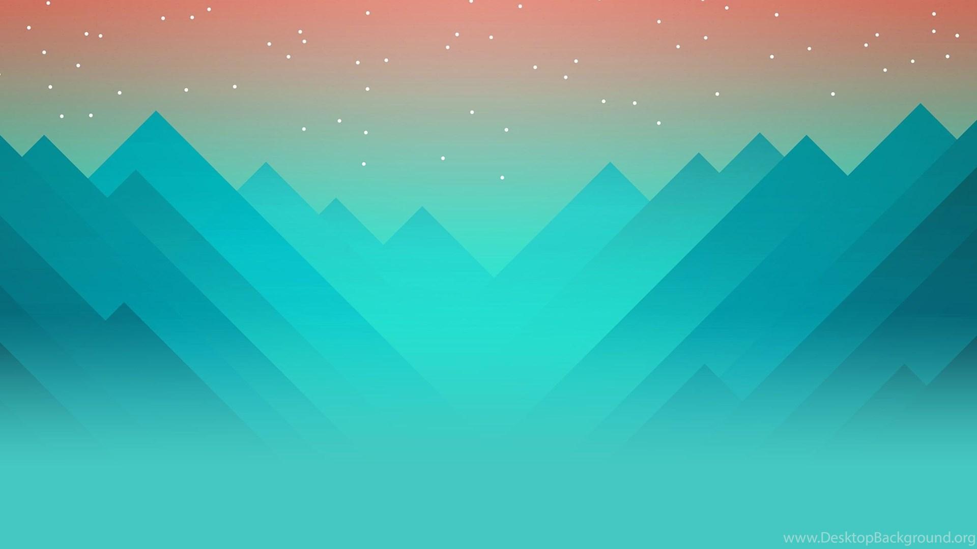 2d Triangle Landscape Wallpapers Desktop Background